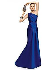 Pronovias apresenta o seu vestido de festa Zorina da coleção Compridos 2013. | Pronovias