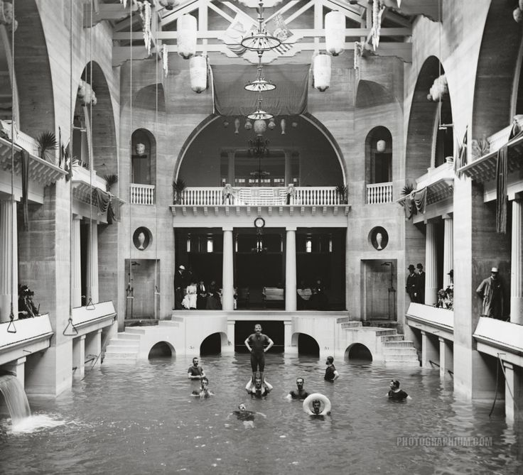Pool In The Ponce De Leon Hotel St Augustine Fl Circa A Beautiful Undiscovered City