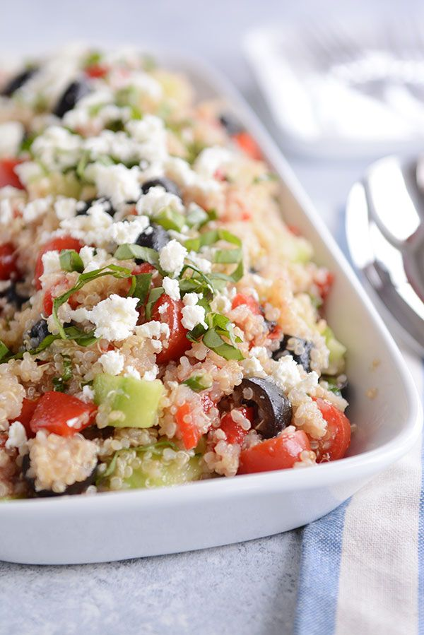 Mediterranean Quinoa Salad Recipe | Mel's Kitchen Cafe