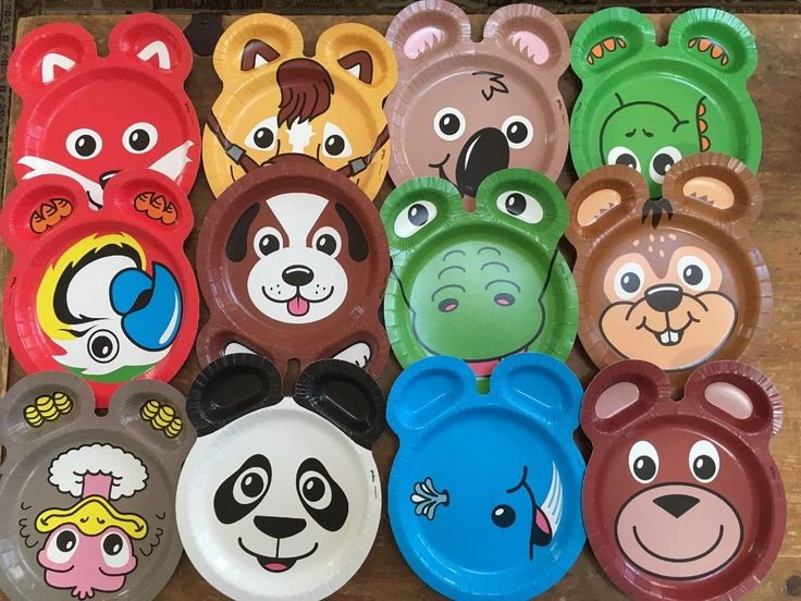 Hefty Zoo Pals Assorted Animals Paper Plates 20ct Farm