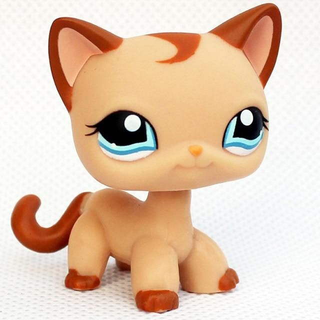 Pet Shop Lps Toy Dog Collection Standing Short Hair Cat 5 Cocker Spaniel Collie Dachshund Great Dane White Pink Littlest Animal Lps Toys Lps Pets Lps Cats