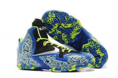 Nike Lebron 11 Elite Royal Blue Black Electric Green 646702 502