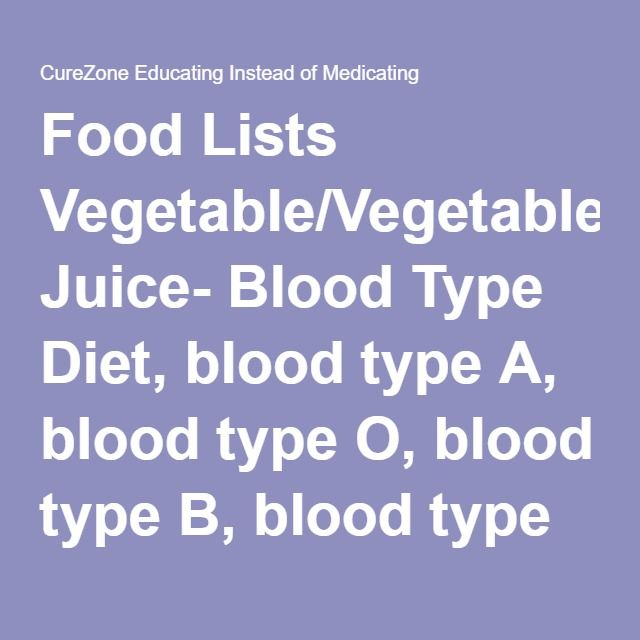 Blood Type O Meal Plans