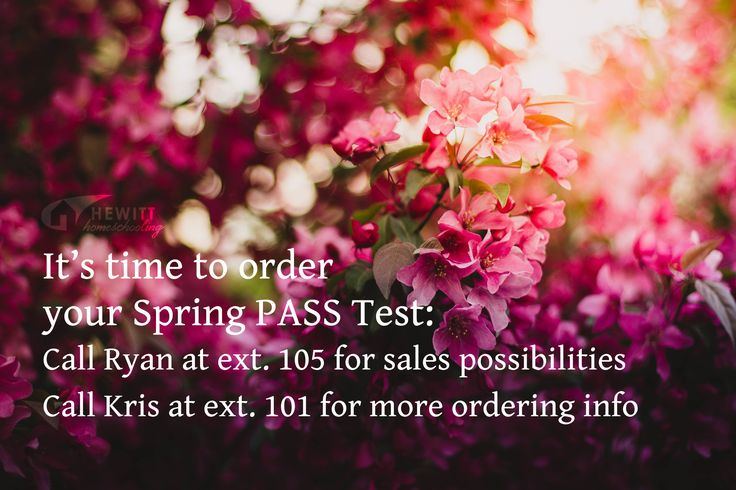 It's spring PASS Test time! Order yours today and remember, there are discounts for group orders - click through for details.
