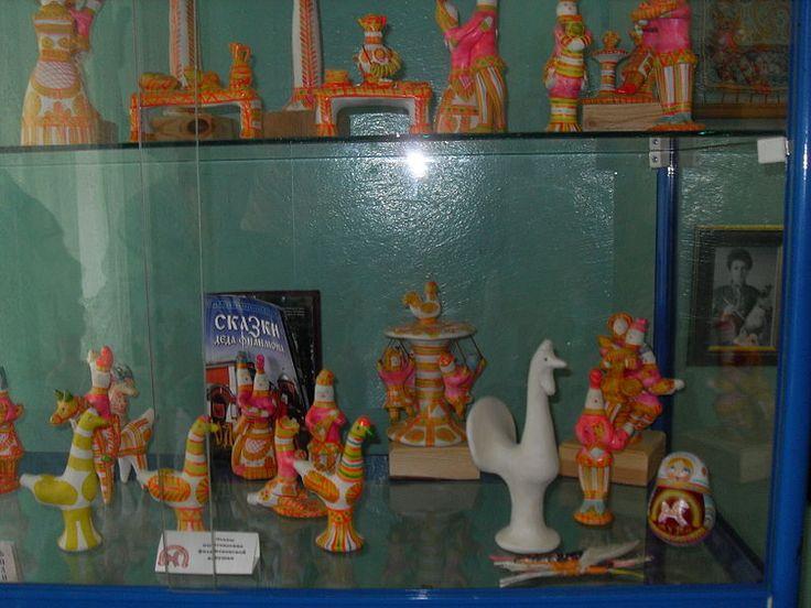 """Экспозиция в музее """"Филимоновская игрушка"""" 1 - Филимоновская игрушка — Википедия"""