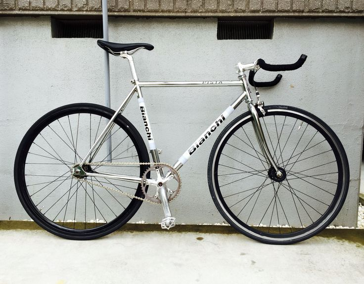 Bianchi chrome pista , monotone arange . #fixied#gear#single#speed#chrome#silver#bianchi#pista