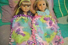 DIY Fleece Tie Blanket for American Girls |  DIY American Girl Blanket