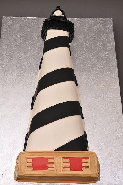 Bethel Bakery - 3D Sculpted Lighthouse Cake - #cake #bakery #lighthouse
