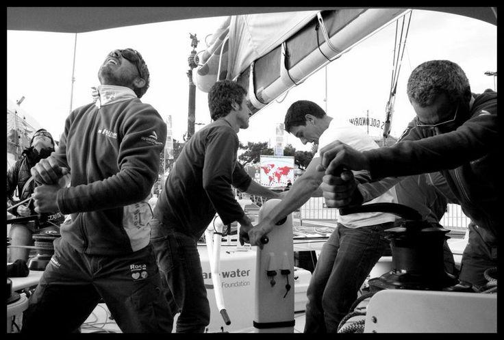 Preparación IMOCA Open 60 antes de salir a dar la vuelta al mundo. BWR 2014/15
