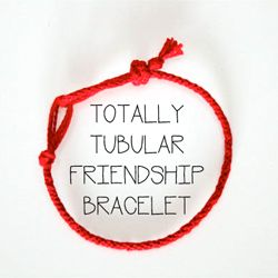 Make a friendship bracelet in the round - easy peasy!