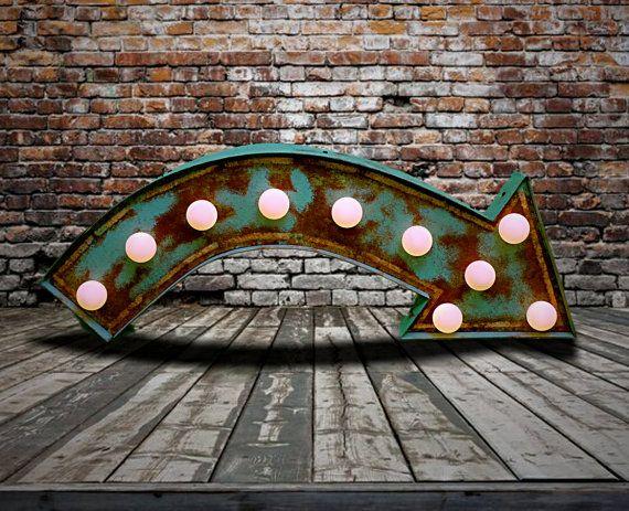 Fairground Marquee Arrow Relic // Patina // by LamplightDesignCo
