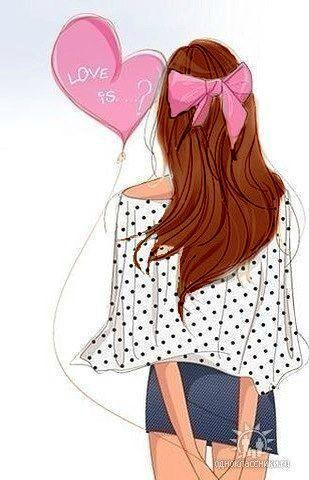 Нарисованные картинки девушки с рыжими волосами