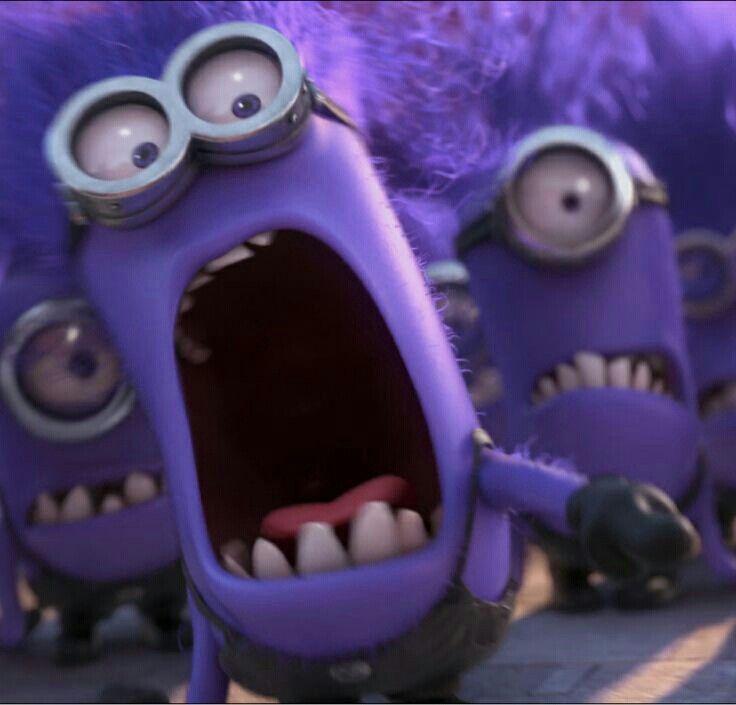 three purple Minions - Despicable Me 2 movie