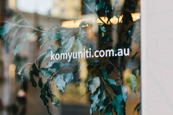 Window decal   Komyuniti Wellness   71 Gertrude Street Fitzroy 3065 VIC Australia   03 9995 8880   info@komyniti.com.au