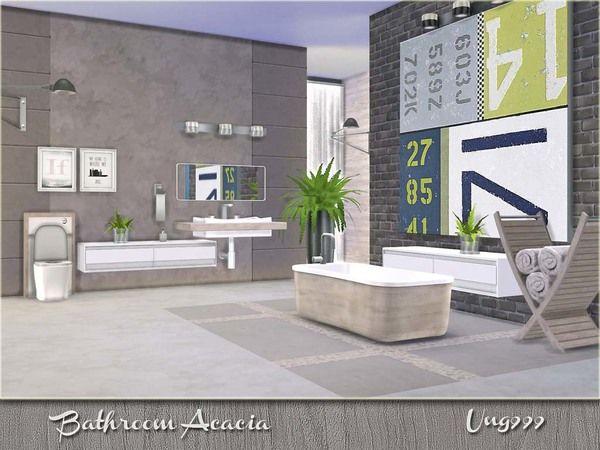 The Sims 4 Bathroom Ideas : Acacia bathroom by ung at tsr via sims updates