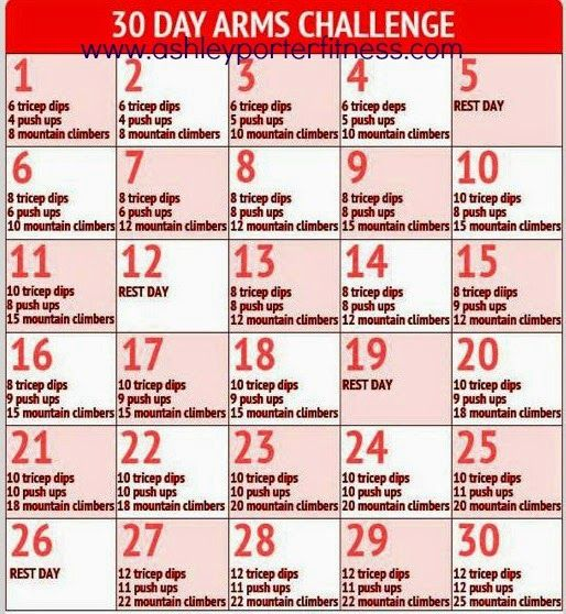 30 Day Arm Challenge! Free to everyone and NO weights required!  #30daychallenge #armchallenge #tonedarms #tanktoparms #BeachBody #cleaneating #Exercise #Fitness #food #Insanity #inspiration #losingweight #mealplanning #P90X3 #recipes #T25 #Transformation #TurboFire #weightloss #21dayfix #healthy #health #fit