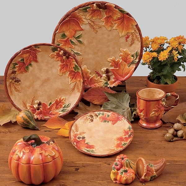 Harvest Blessings Covered Pumpkin Bowl 32 oz by Susan Winget - Certified International Dinnerware & 11 best Autumn Dinnerware images on Pinterest | Dish sets China ...
