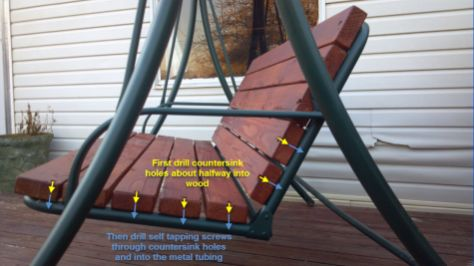 Recycle Old Patio Swing Chair Into New Wooden One | TeeDiddlyDee