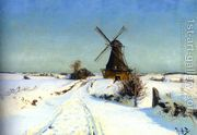 Vindmoue (A Windmill)  by Hans Anderson Brendekilde