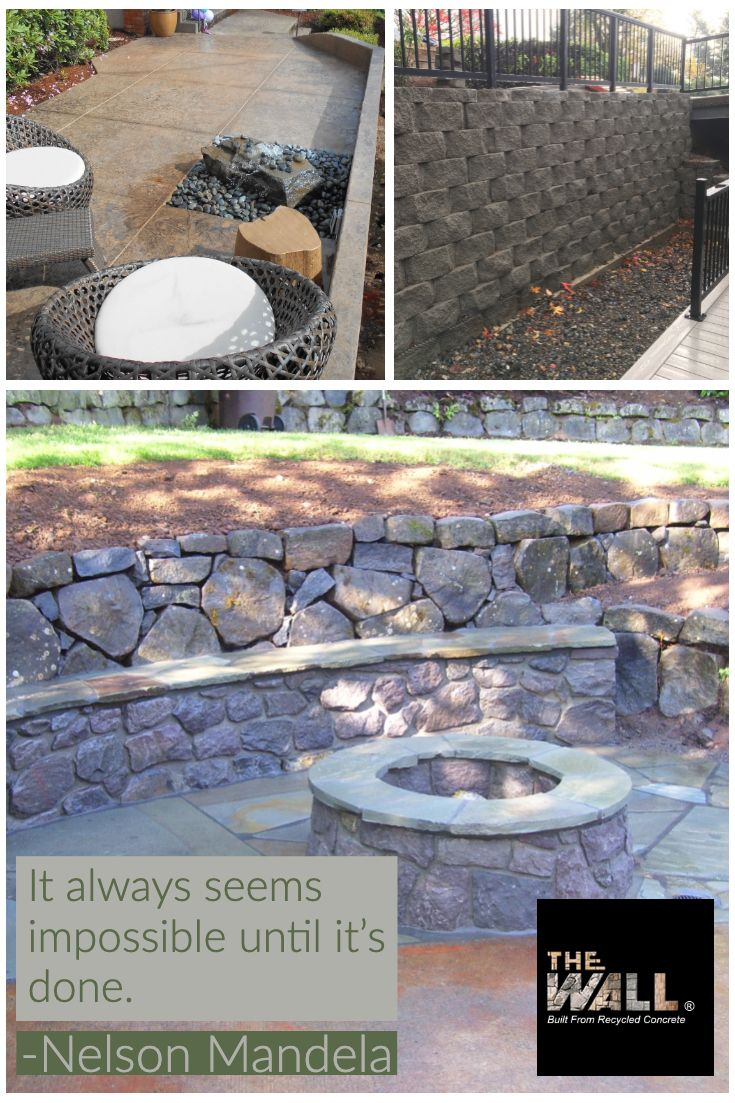 Pin By The Wall Built From Recycled On Retaining Walls Concrete Retaining Walls Retaining Wall Recycled Concrete