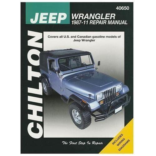 1987-2011 Jeep Wrangler Repair Manual 03 04 2005 2006 2007 2008 2009 2010 40650
