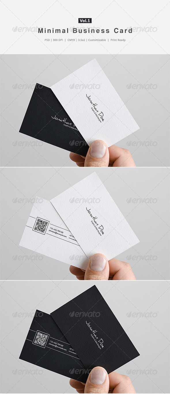 Minimal Business Card Vol.1 — Photoshop PSD #color #print ready • Available here → https://graphicriver.net/item/minimal-business-card-vol1/6332724?ref=pxcr