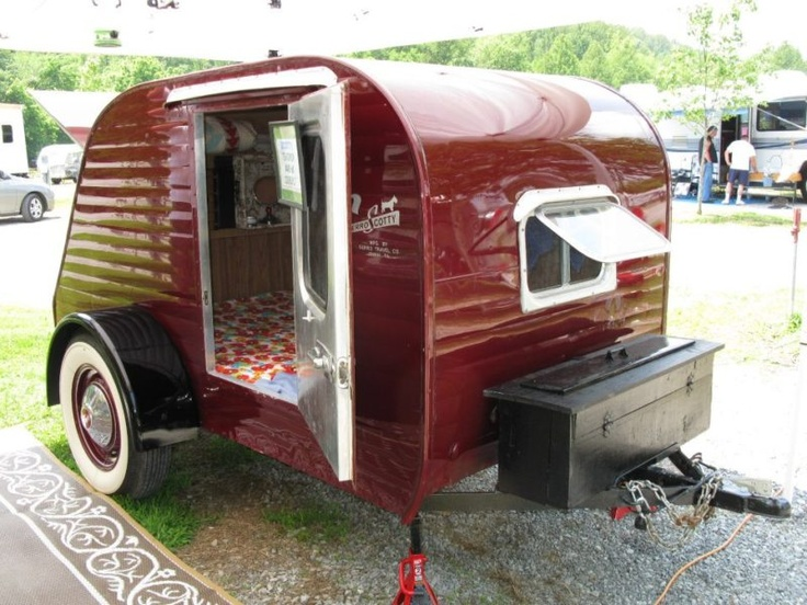 1957 SCOTTY TEARDROP CAMPER. I am going to call this picture BIG RED.