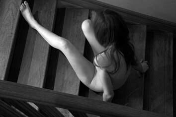 #stairs #nudes #photography #art #black and white