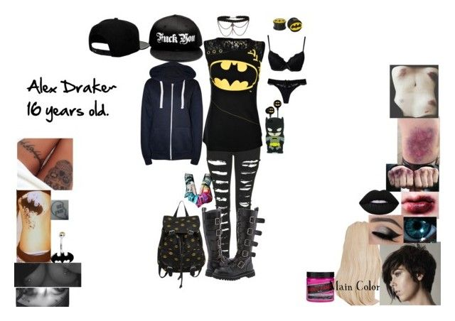 """""""Story~"""" by beautifully-broken-allie ❤ liked on Polyvore featuring Manic Panic NYC, The Ragged Priest, '47 Brand, Soma, Lime Crime, Hot Topic, Marie Meili, WearAll and plus size clothing"""