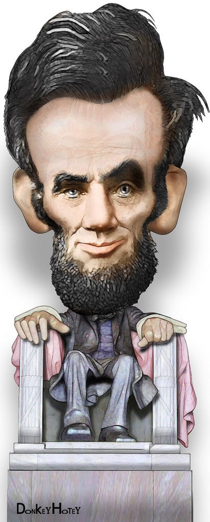 Funny Caricatures of US Presidents: ABE