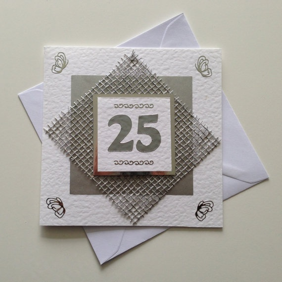 Ideas For Making Wedding Anniversary Cards Part - 44: Handmade 25th Silver Wedding Anniversary Card By CardsbyFrankie, £2.50