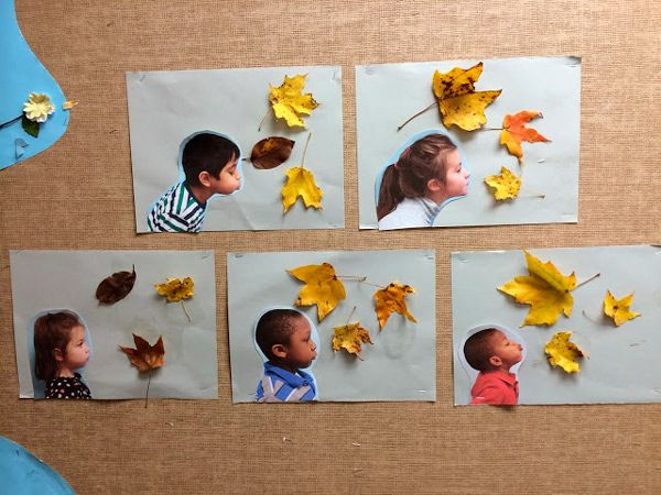 Manualidades para niños: divertidos retratos de otoño