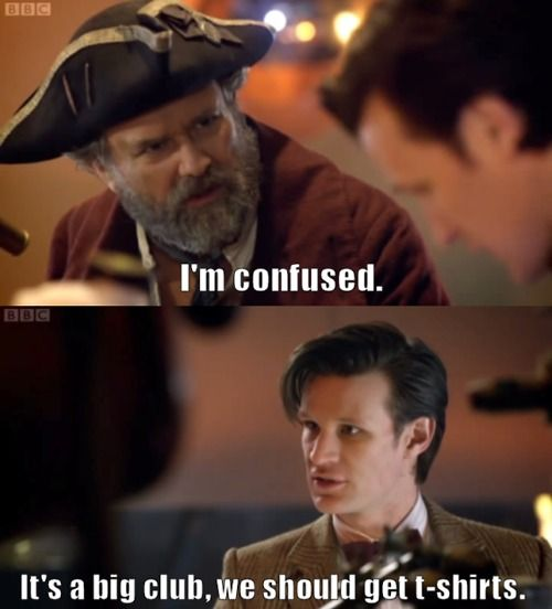 Matt Smith had some great one-liners in this episode (The Curse of the Black Spot).