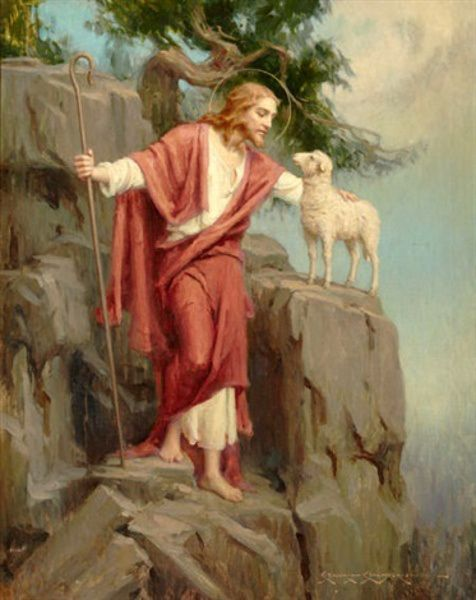 Jesus And The Lost Sheep -Charles Bosseron Chambers (1882 – 1964)