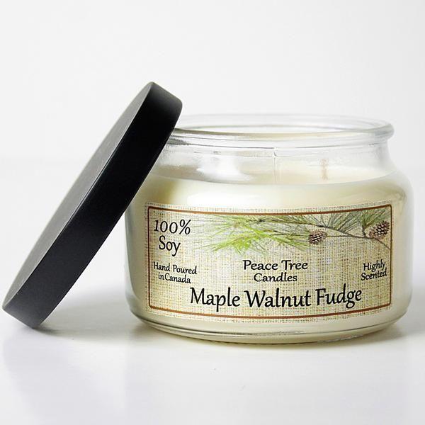 Maple Walnut Fudge Peace Tree Soy Candle