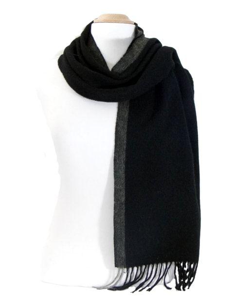 8a08c59ecee3 echarpe laine tissee noir rayure   Echarpes laine   Pinterest