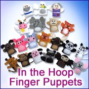 Embroidery Library - In-the-Hoop Finger Puppets