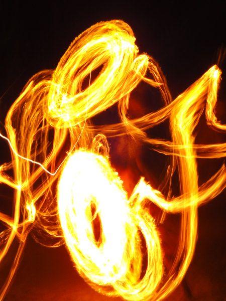 Streaks of light, swirls of fire - fire dancing in Fiji