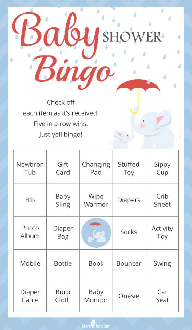 Printable Baby Shower Bingo Game for Large Groups