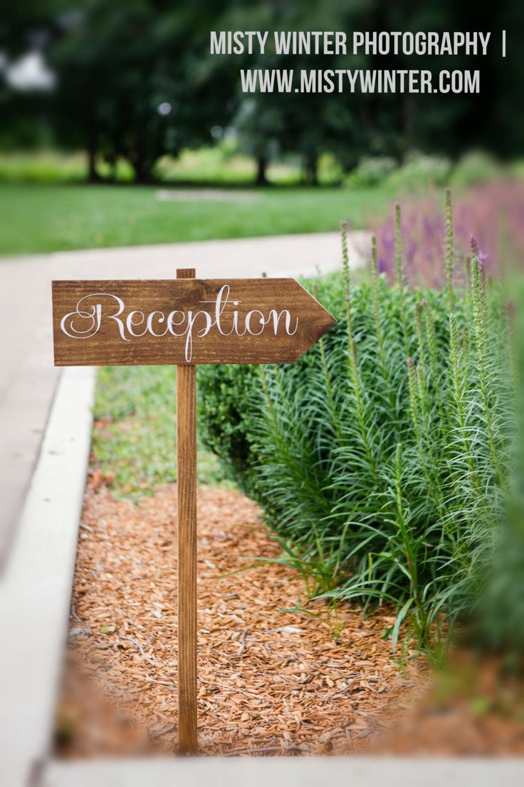 Wooden Wedding Directional Signs  RECEPTION by SweetNCCollective, $25.00