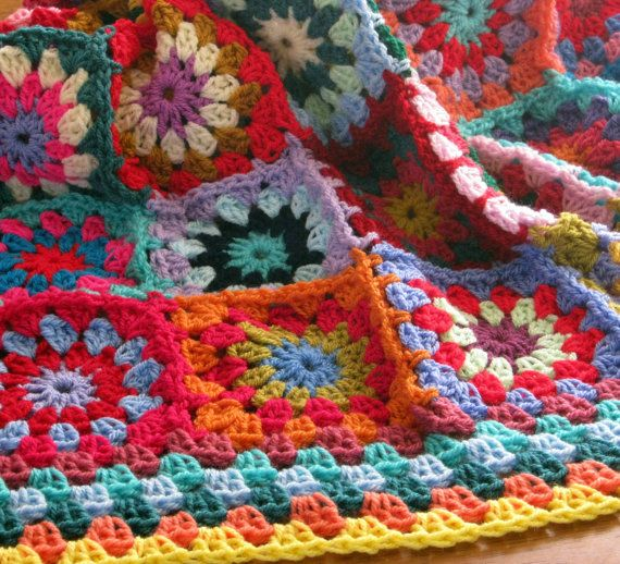 Crochet Afghan Blanket Gorgeous Sublime Floral by Thesunroomuk, £115.00