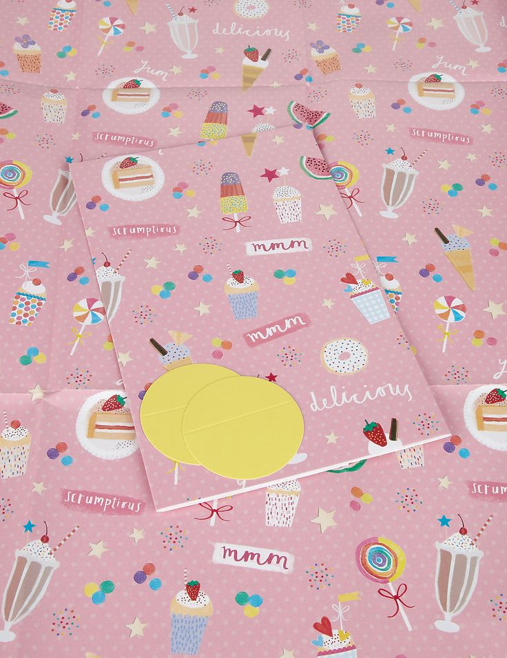 215 best cards gift wrap images on pinterest gift wrapping 2 scrumptious sweet treats wrapping paper negle Images