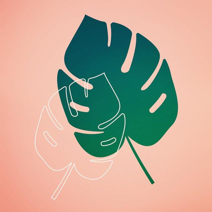 Don't stop be🌿ing . . Mandag... #mandagstræt #farjoke #ordspil #træt . . #illustration #drawing #illustrator #lineart #leaf #monday #mondaymood #summer #pink #danish  #ihavethisthingwithpink #love #happy #tired #DK