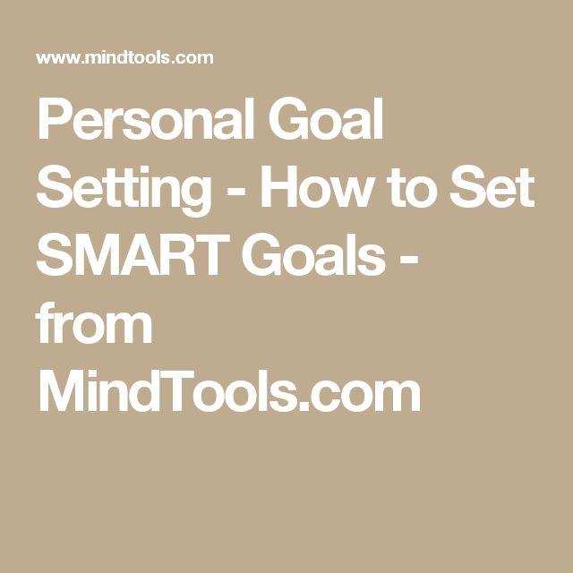 Personal goal settings