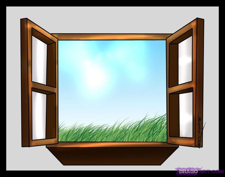 نافذة كرتون