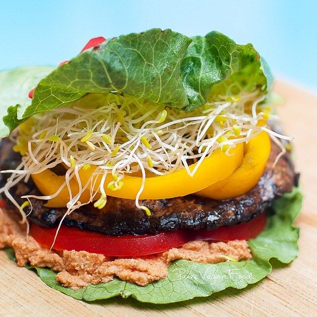 Portobello mushrooms are a great source of nutrients including selenium and potassium, and they are definitely a healthy substitution in a burger as they are low in calories, have only about 1 gram…