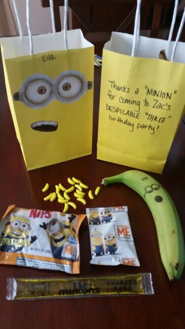 Minion themed goodie bags