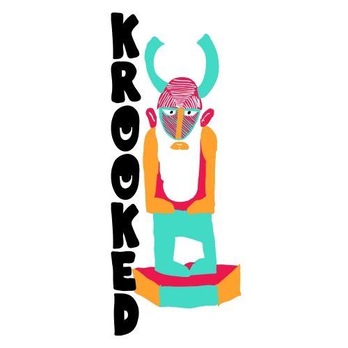 Krooked Skateboards Krooked Idle 3x7 Sticker