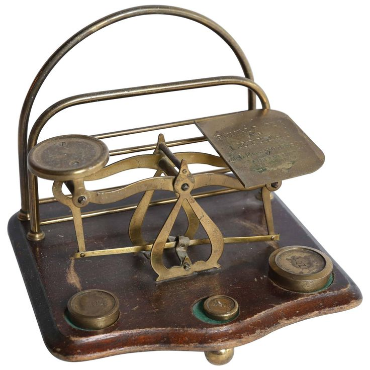 Antique Postal Scale and Letter Holder, circa 1900