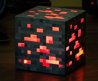 Give your home or office a blocky feel to it with this incredible light up Minecraft ore block. This touch activated night light block is designed to look just like redstone ore from the indie hit sensation Minecraft, and makes an excellent gift idea for gamers.